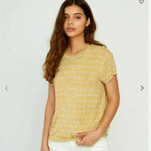 RVCA Sz M Recess Striped Knit T Shirt Womens Short